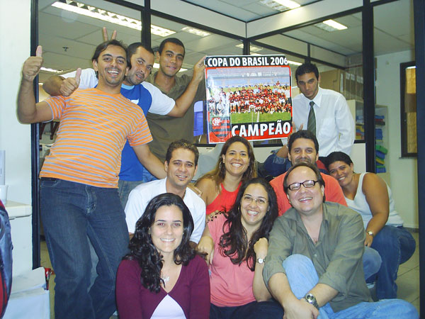 Equipe Editora e Gráfica GPI na minha despedida em 2007