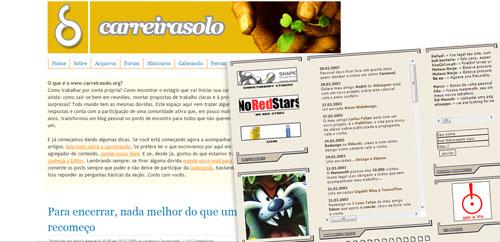 Carreira Solo e Mammoth Design em 2004 (via WebArchive.org)