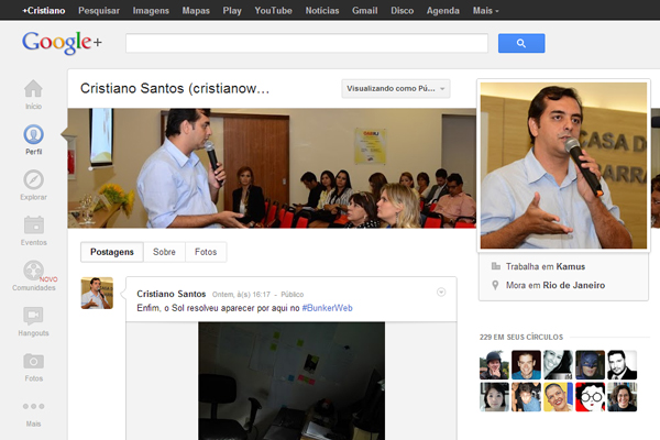 Que tal usar o Google+ no lugar do Facebook?