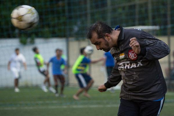 Nem todo mundo é Zico né!? Eu no gol do jogo de 9 anos do blog @fimdejogo   Foto @celsopupo
