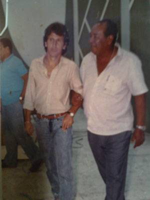 Zico e o meu avô Dival Roque Santos (Diretor do programa esportivo Stadium e Esporte Hoje da TVE)